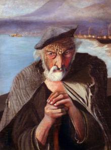 """სიკეთე  და ბოროტება ერთ   ნახატში -  გასაოცარი  ფერწერული ტილო  """"მოხუცი მებადური"""""""