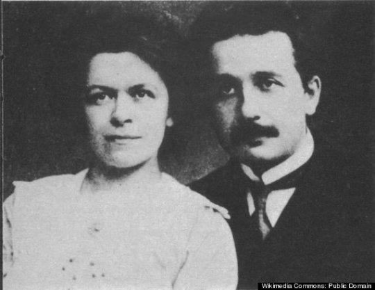 აინშტაინი თავის პირველ ცოლ მილევა მერისთან ერთად