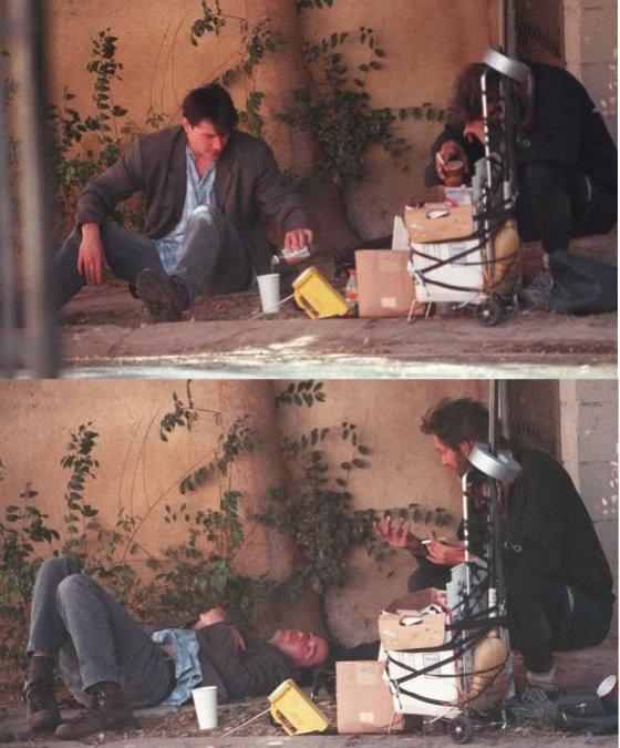 კიანუ რივზი უსახლკაროსთან ერთად...  (დასავლეთ ჰოლივუდი/1997 წ.)