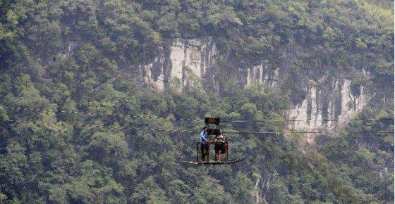 საბაგირო გზა ჩინეთის სოფლის მცხოვრებლებისათვის