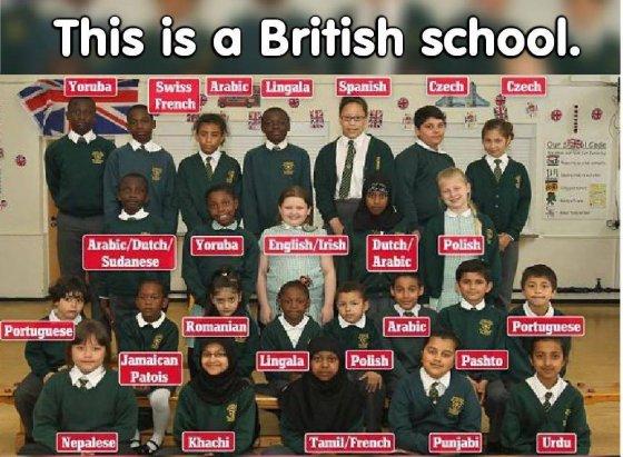 დაწყებითი კლასის მოსწავლეები ლონდონში