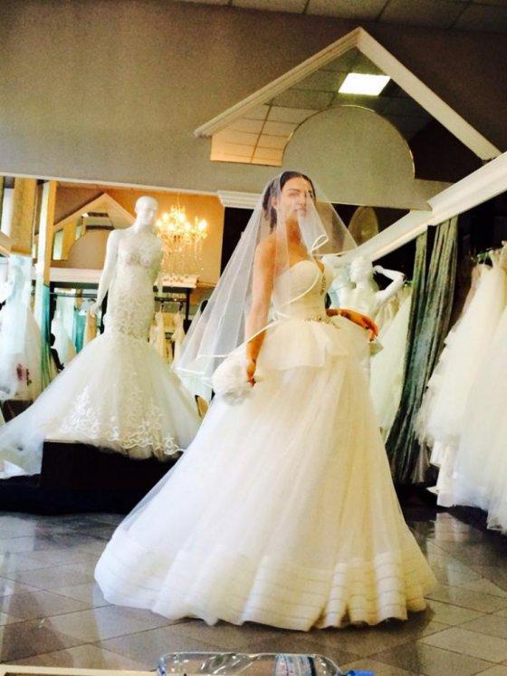 შორენა ბეგაშვილი საქორწინო კაბაში
