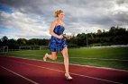 იულია პლეჩერმა 100 მეტრი მანძილი 14,5 წამში გაირბინა მაღალქუსლიანი ფეხსაცმელებით