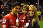 სუარესი თავის ოჯახთან ერთად.