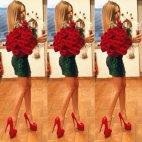 ლამაზი გოგო ლამაზი ყვავილებით...