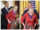 ბარაკ ობამამ მერილ სტრიპს პრეზიდენტის თავისუფლების ორდენი გადასცა