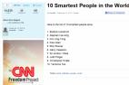 ივანიშვილი მსოფლიოს 10 უჭკვიანესთა სიაში პირველ ადგილზეა