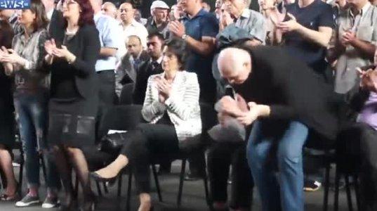 """ნინო ბურჯანაძეც დაესწრო """"ქართული ოცნების""""ყრილობას"""