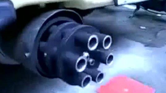 Насадка на глушитель пулемет своими руками