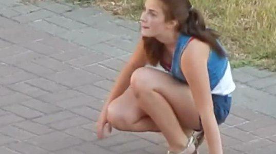 რუსი გოგონა ნარკოტიკული ზემოქმედების ქვეშ იმყოფება