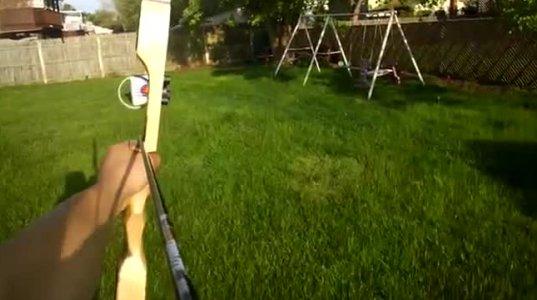 სროლა  მშვილდ-ისრიდან Google Glass-ით