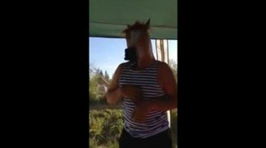 """ცხენი არ ჯობია ამ მართლა """"გამოცხენებულ"""" იდიოტს?"""