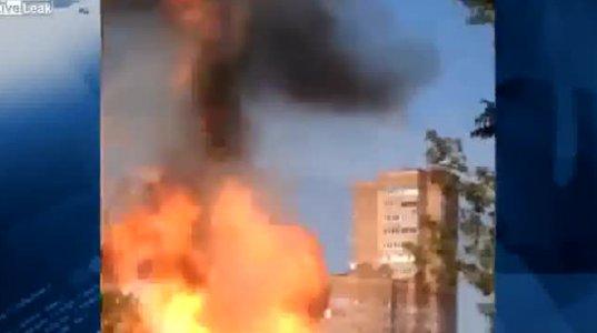 გაზის ბალონიანი ავტომობილი აფეთქდა მოსკოვში