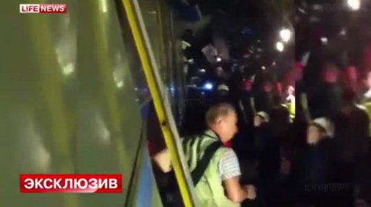 კატასტროფა მოსკოვის მეტროში-მატარებელი რელსებიდან გადავარდა
