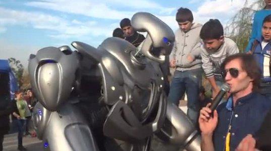 რობოტი რიყის პარკში